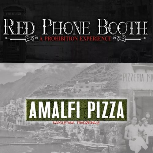 RED PHONE BOOTH/AMALFI PIZZA